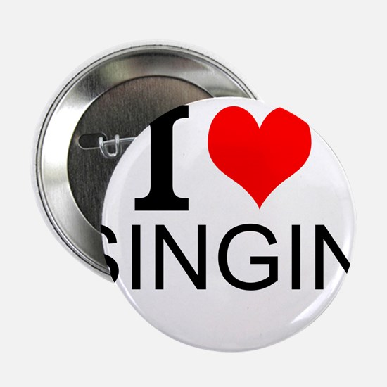 """I Love Singing 2.25"""" Button (10 pack)"""