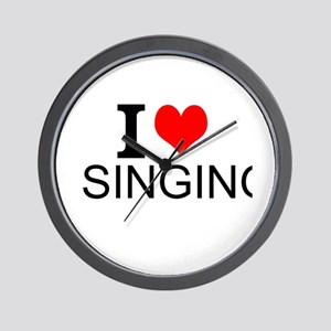 I Love Singing Wall Clock