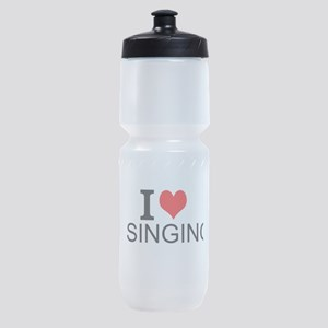 I Love Singing Sports Bottle