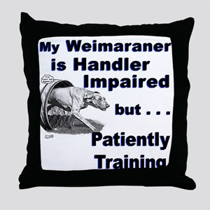 Weimaraner Agility Throw Pillow