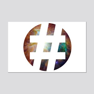 Hastag Space Mini Poster Print