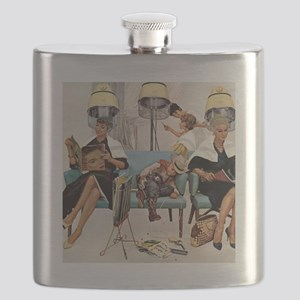 Retro Beauty Salon, Vintage Poster Flask