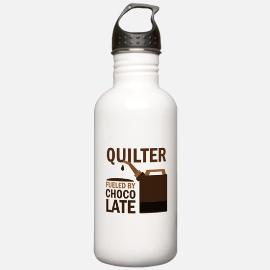 Quilter Fueled by choc Water Bottle
