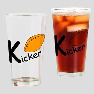 Football Kicker Drinking Glass