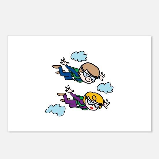 Skydiving Kids Postcards (Package of 8)