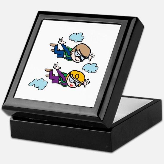 Skydiving Kids Keepsake Box