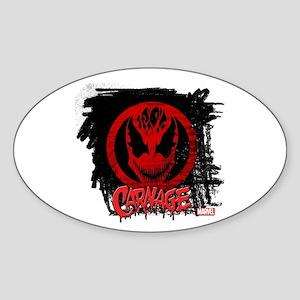 Carnage Chalk Sticker (Oval)