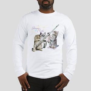 Felines Flute Long Sleeve T-Shirt