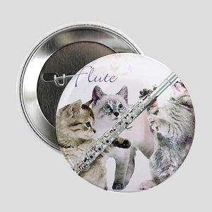 """Felines Flute 2.25"""" Button"""