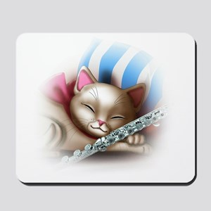 Napping Cat and Flute Mousepad