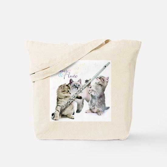Felines & Flute Tote Bag