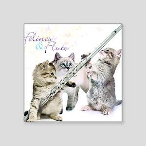 Felines Flute Sticker