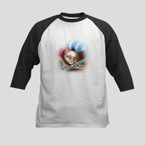 Napping Cat and Flute Baseball Jersey