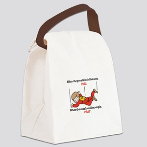 Skydiver Saying Canvas Lunch Bag