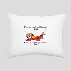 Skydiver Saying Rectangular Canvas Pillow