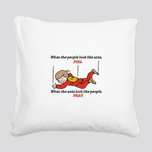 Skydiver Saying Square Canvas Pillow