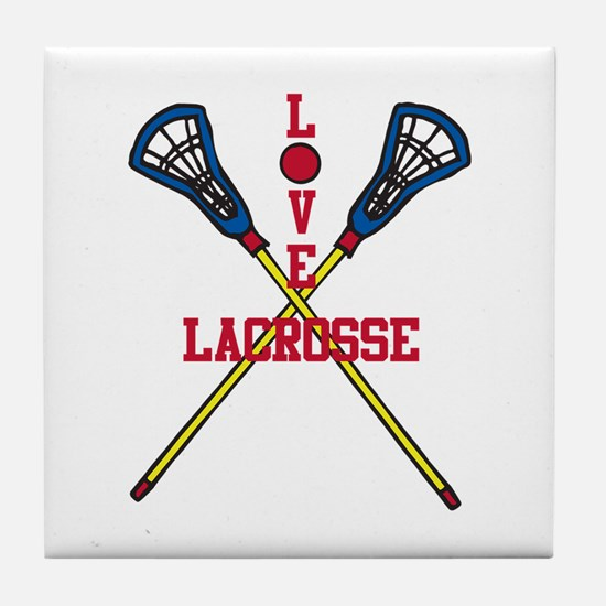 Love Lacrosse Tile Coaster
