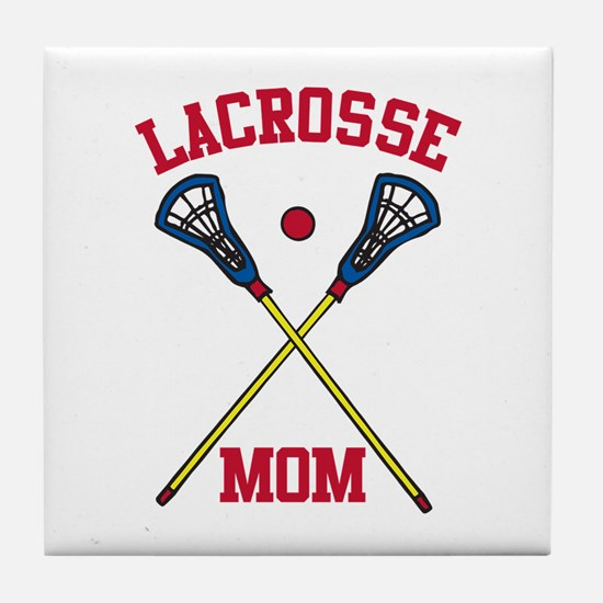 Lacrosse Mom Tile Coaster