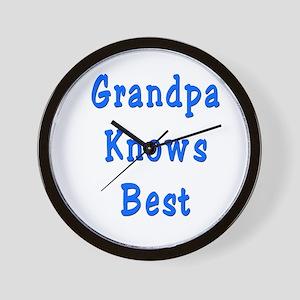 Grandpa Knows Best Wall Clock