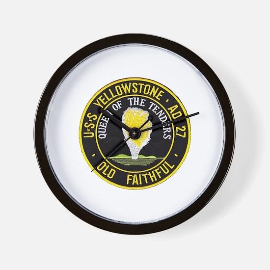 uss yellowstone ad 27 patch Wall Clock