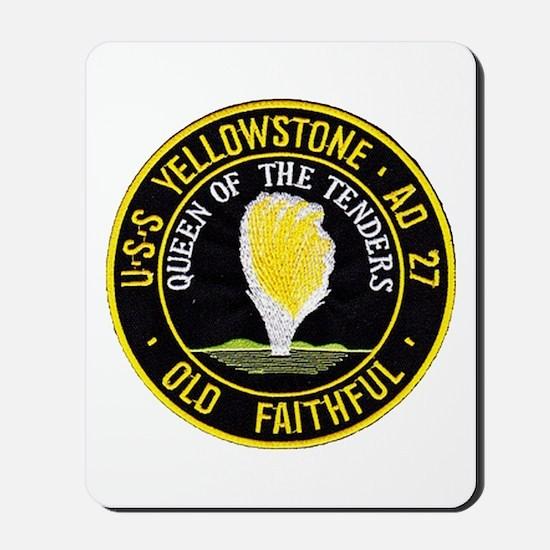 uss yellowstone ad 27 patch Mousepad