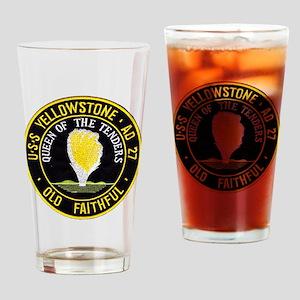 uss yellowstone ad 27 patch Drinking Glass