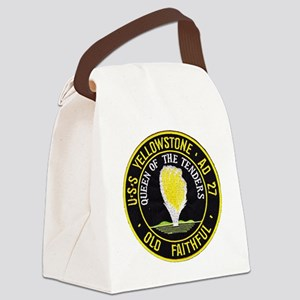 uss yellowstone ad 27 patch Canvas Lunch Bag