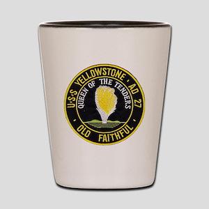 uss yellowstone ad 27 patch Shot Glass