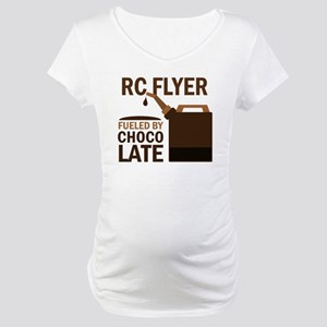 RC Flyer Fueled by chocolate Maternity T-Shirt