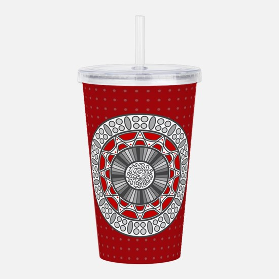 Aztec Meets Alien Acrylic Double-wall Tumbler