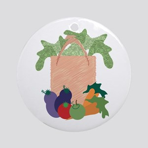 Grocery Bag Ornament (Round)