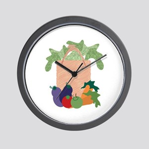 Grocery Bag Wall Clock