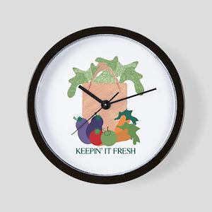 Keepin' It Fresh Wall Clock