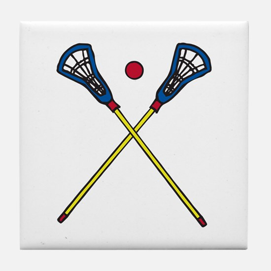 Lacrosse Gear Tile Coaster