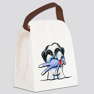 Lil Love Monkey Canvas Lunch Bag