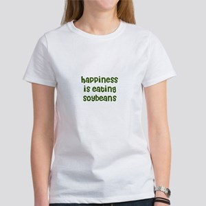 happiness is eating soybeans Women's T-Shirt