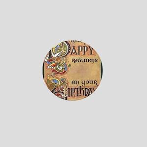 Celtic Happy Birthday Mini Button
