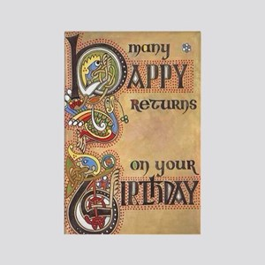 Celtic Birthday  Rectangle Magnet