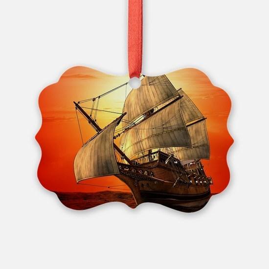Sail boat Ornament