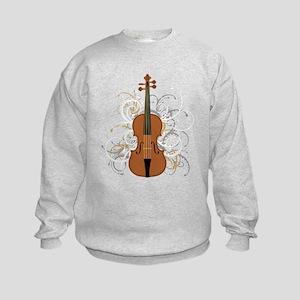 Violin Swirls (for dark colours) Sweatshirt