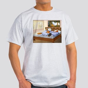 Sleeping Dachshunds Light T-Shirt