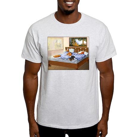 Sleeping Dachshunds Light T-Shirt