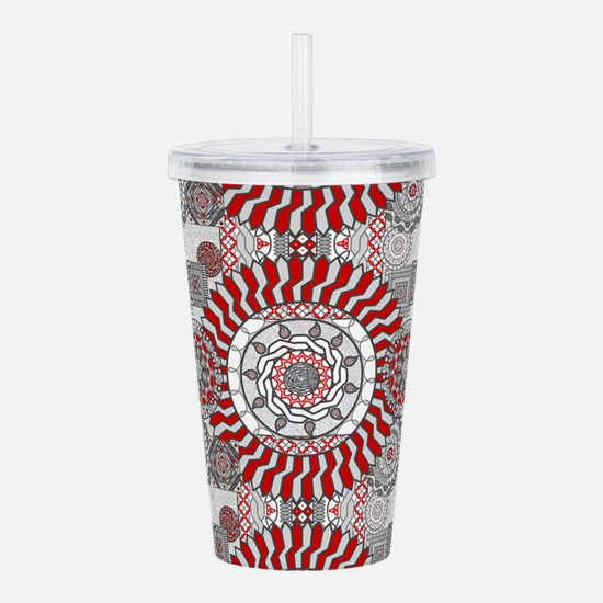 Concentric Collage Acrylic Double-wall Tumbler