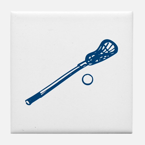 Lacrosse Outline Tile Coaster