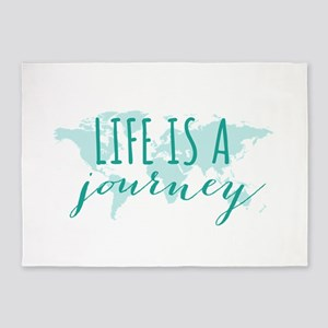 Life is a journey 5'x7'Area Rug