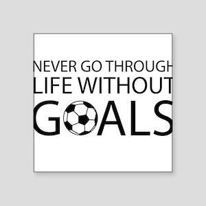 Life goals soccer Sticker