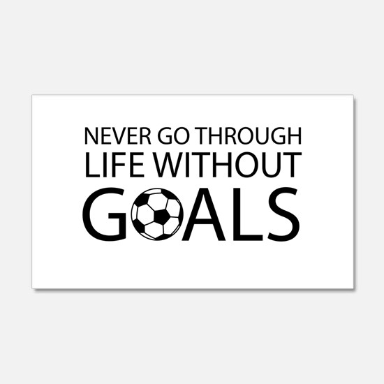 Life goals soccer Wall Decal