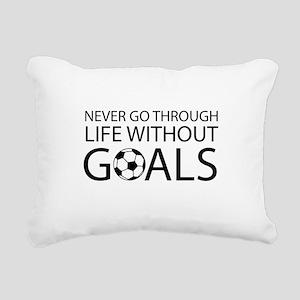 Life goals soccer Rectangular Canvas Pillow