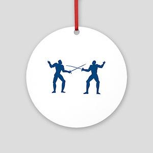 Men Fencing Ornament (Round)