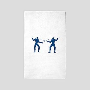 Men Fencing 3'x5' Area Rug